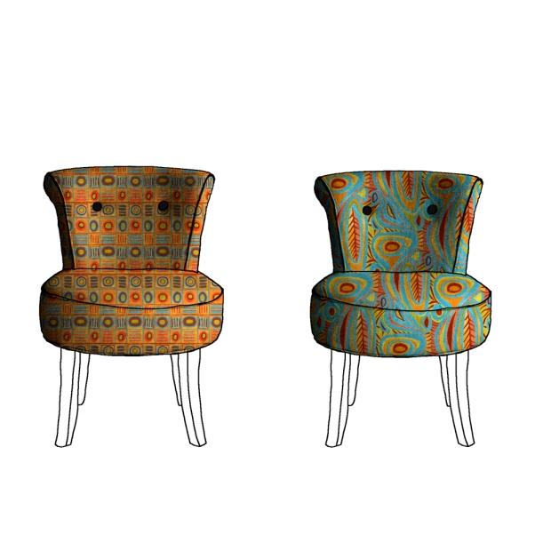 Langage (à gauche) 20 x 26 cm et Canto (à droite) 40 x 47 cm