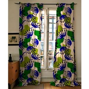 New Floraison Bleue : 100 x 100 cm